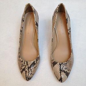 Antonio Melani Leather Reptile Prints 10 M Heels